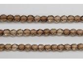 60 perles verre facettes brun 4mm