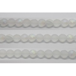 60 perles verre facettes marron 4mm