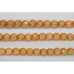 60 perles verre facettes orange clair 3mm