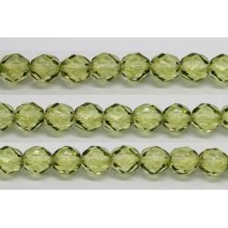 60 perles verre facettes olivine 4mm