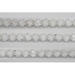 30 perles verre facettes cristal 6mm