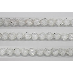 30 perles verre facettes cristal 16mm