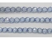 60 perles verre facettes saphir 3mm