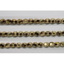 60 perles verre facettes dore 5mm