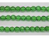 60 perles verre facettes emeraude 4mm