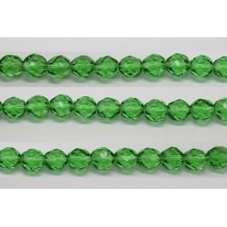 30 perles verre facettes emeraude 10mm