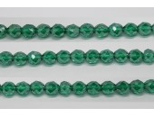 60 perles verre facettes emeraude lustre 3mm