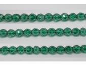 30 perles verre facettes emeraude lustre 6mm
