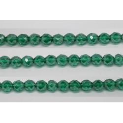 30 perles verre facettes emeraude lustre 10mm