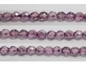 60 perles verre facettes fuschia demi metalise 5mm