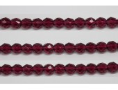 60 perles verre facettes fuschia 5mm