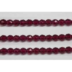 30 perles verre facettes fushia 12mm