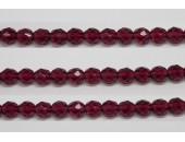 30 perles verre facettes fushia 14mm