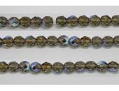 60 perles verre facettes gris A/B 4mm