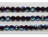 30 perles verre facettes grenat A/B 6mm