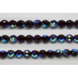 30 perles verre facettes grenat A/B 8mm