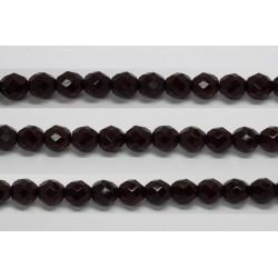 60 perles verre facettes grenat 4mm