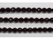30 perles verre facettes grenat 6mm