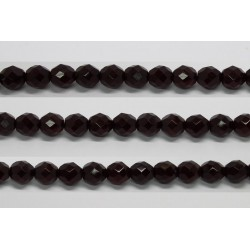 30 perles verre facettes grenat 8mm