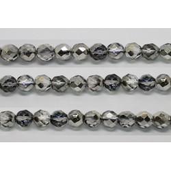 30 perles verre facettes heliotrope 10mm
