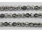 30 perles verre facettes heliotrope 12mm