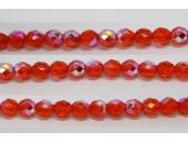 30 perles verre facettes jacinthe A/B 8mm