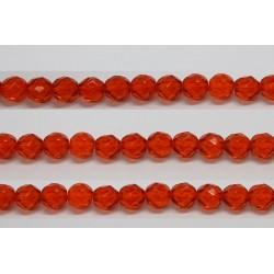 60 perles verre facettes jacinthe 4mm