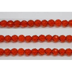 60 perles verre facettes jacinthe 5mm