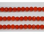 30 perles verre facettes jacinthe 6mm