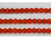 30 perles verre facettes jacinthe 12mm