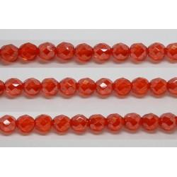 30 perles verre facettes jacinthe lustre 14mm