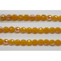 30 perles verre facettes jaune opale A/B 6mm