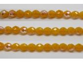 30 perles verre facettes jaune opale A/B 12mm