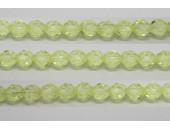 30 perles verre facettes jonquille 8mm