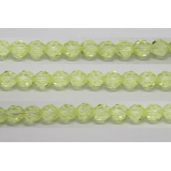 30 perles verre facettes jonquille 14mm