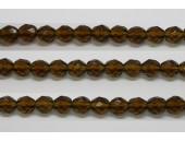 30 perles verre facettes kaki 10mm