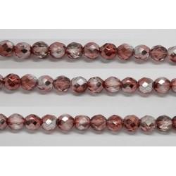 60 perles verre facettes marron demi metalise 5mm