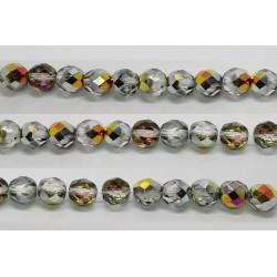 30 perles verre facettes marea 6mm