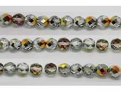 30 perles verre facettes marea 10mm