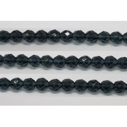 60 perles verre facettes montana 5mm