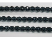 30 perles verre facettes montana 6mm