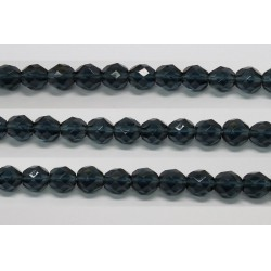 30 perles verre facettes montana 12mm