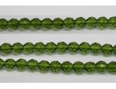 60 perles verre facettes olivine 3mm