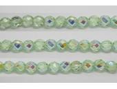 60 perles verre facettes peridot A/B 4mm