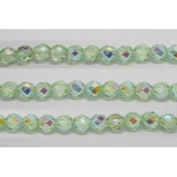 30 perles verre facettes peridot A/B 6mm