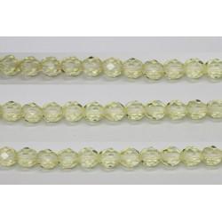 30 perles verre facettes paille 10mm
