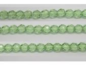 30 perles verre facettes peridot 10mm