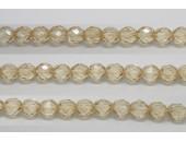 60 perles verre facettes poudre beige 4mm