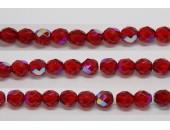 30 perles verre facettes rubis A/B 12mm