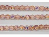 60 perles verre facettes rose clair A/B 3mm